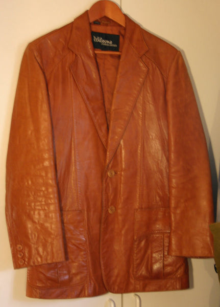 Fantastic 1970's Hip Super Fly Vintage Size 38 Woman's or Men's Very Soft Wilson Brand a Great Milk Caramel Color Near Perfect Condition!!