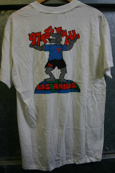 "Size Large Hanes Beefy-T 100 Percent Cotton Made In USA Los Amigos Class of 1997 ""Tops Them All"" Fountain Valley California! Great Graphics"