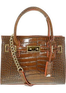 "Brand New Season, Nine West Internal Affairs Tote Bag Tobacco Chain Detail Removable Strap 20"" Shoulder Drop large Tote."