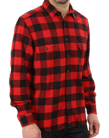 Brand New In Stock Now! Woolrich Men's Oxbow Bend Flannel Shirt OLD RED BUFFALO Size XL In Stock Ships Fast! 1850s Pattern!