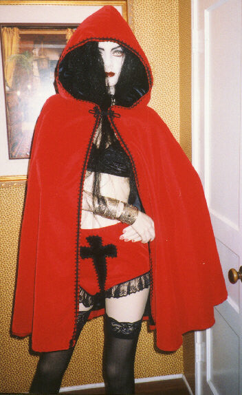 "The ""Blood Red Riding Hood"" cape"