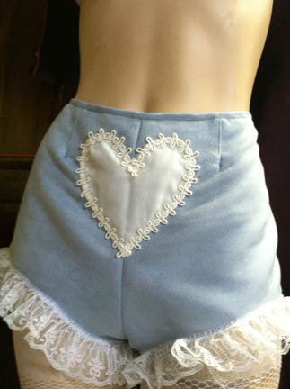 "The ""Blue Valentine"" panty shorts"