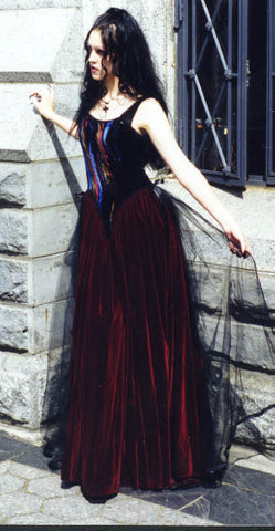 "The ""Jacobian"" velvet dress"