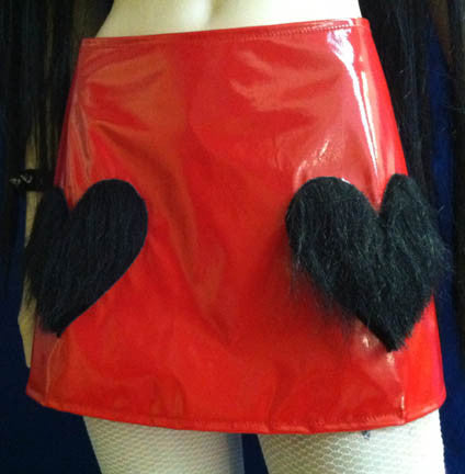 "The ""Red Hot"" vinyl mini skirt"