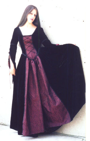 "The velvet and brocade ""Mid-Evil"" dress"