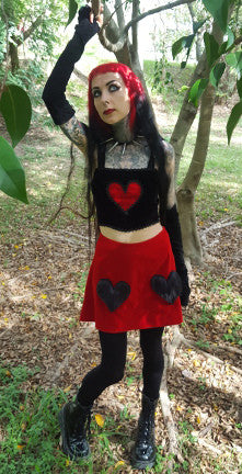 heart top & two of hearts skirt