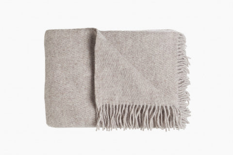 130 x 200 cm 100% wool Brownish-beige wool blanket Manufactured in Europe Brande: D&T​