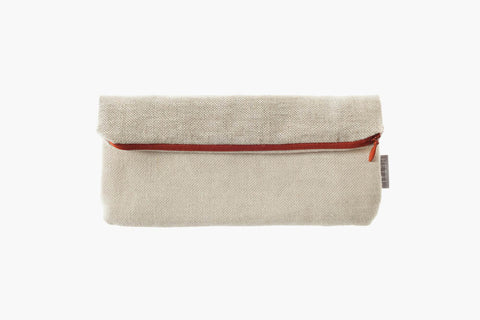13x20, 20x20 oder 23x25 cm sand colored linen beige-brown raw linen orage-red synthetic zipper