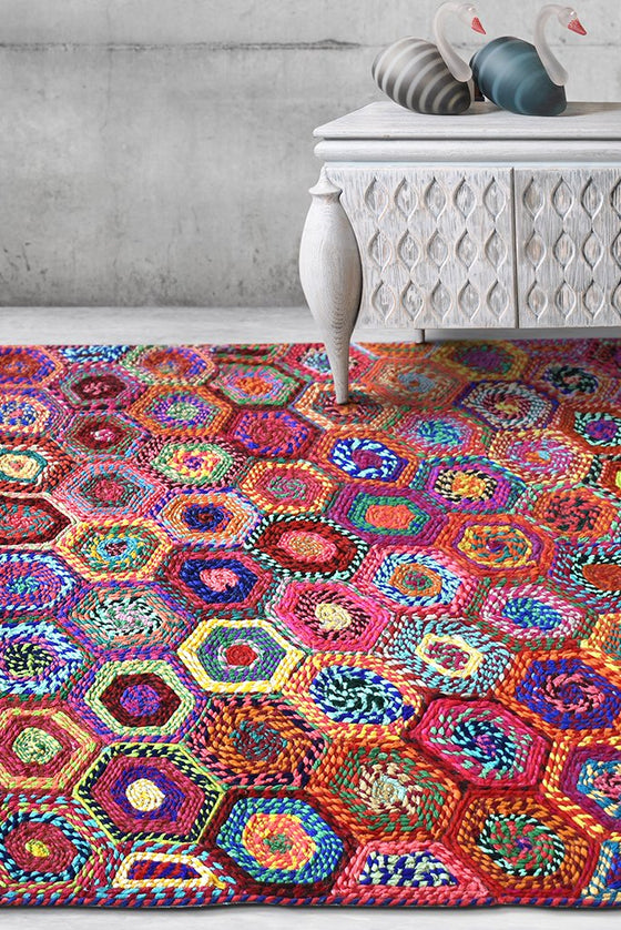 adailo recycled rug in multi color