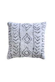 allard cotton pillow in charcoal and ivory color