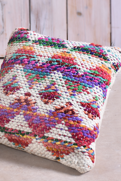 colfax recycled fabrics pillow in multi color