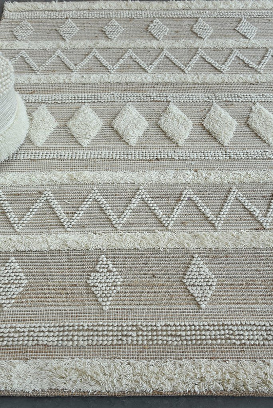 coplin wool rug in natural color