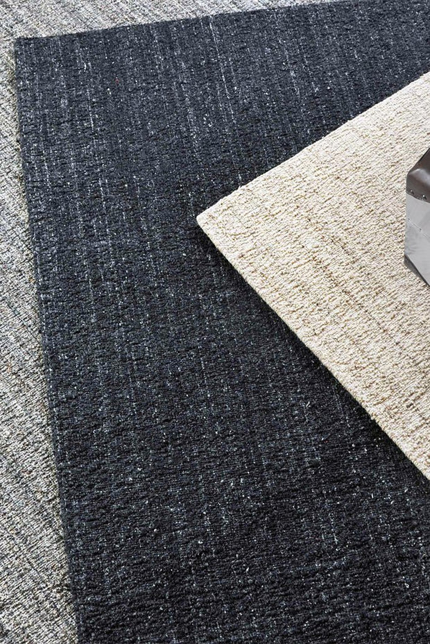 darya wool rug in grey color