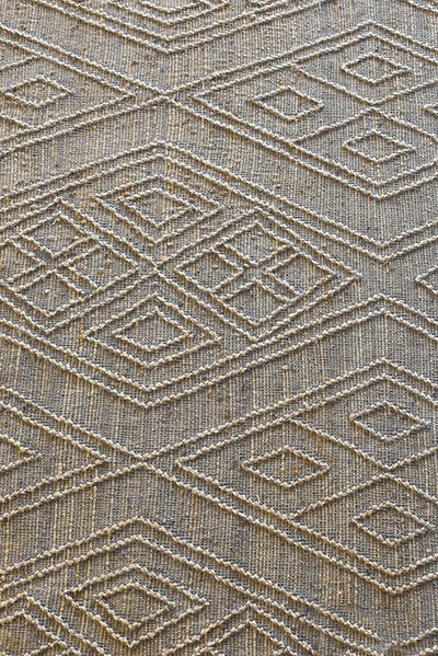 dawson hemp rug in grey and natural color