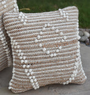 delans wool pillow in Natural/ Ivory color