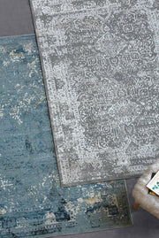elvera viscose rug in grey color