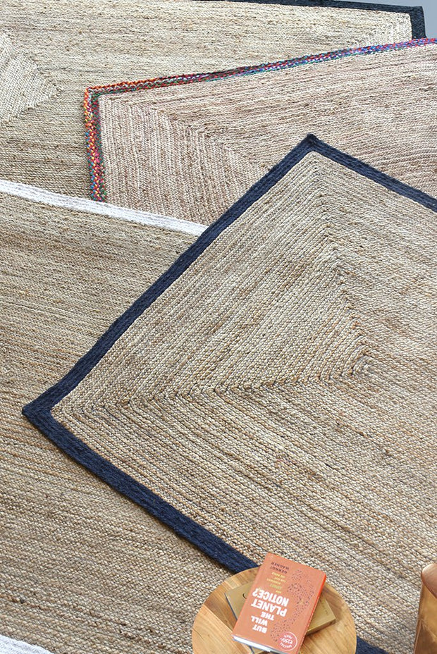 haruno hemp rug in charcoal and ivory color