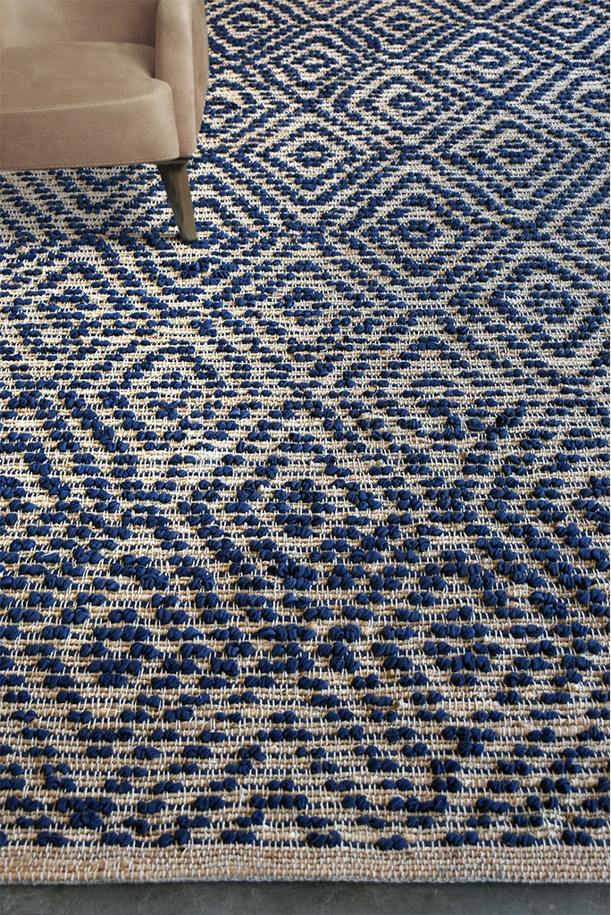 haskell cotton rug in blue color