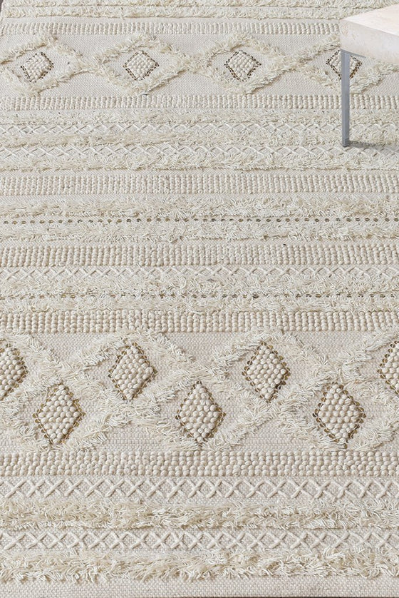 hawley wool rug in ivory color