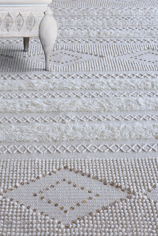 jameson wool rug in ivory color