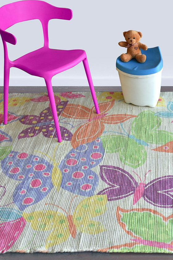 julia viscose rug in multi color