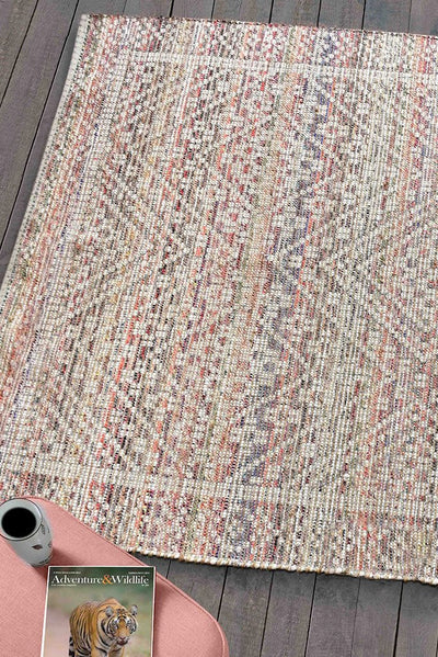 keppel hemp rug in multi color