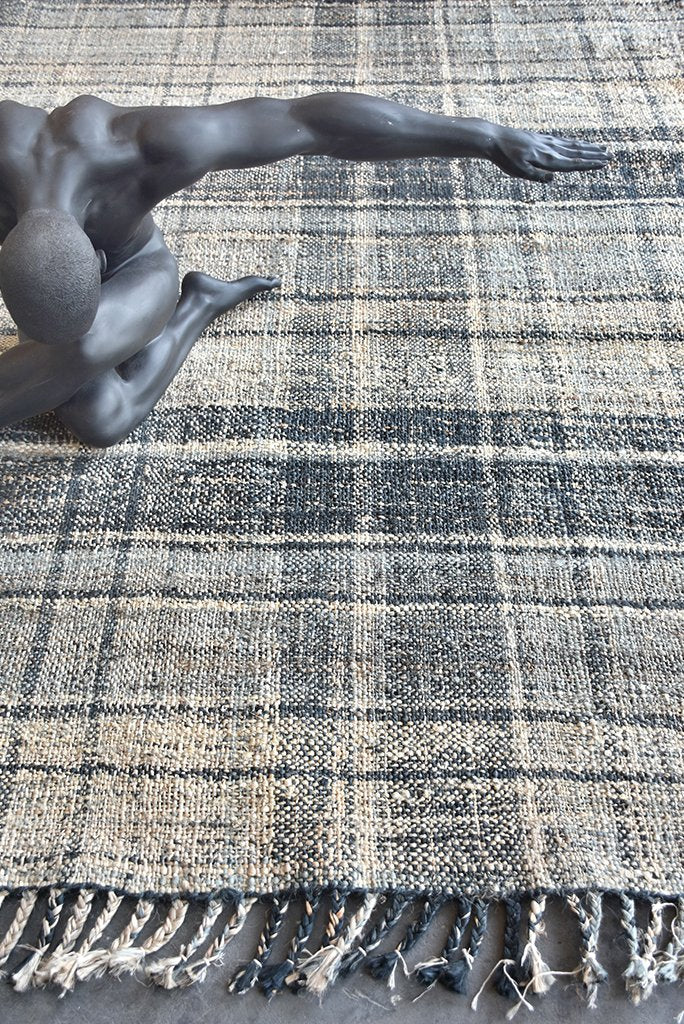 lanciano hemp rug In grey and natural color