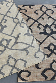 marrakesh hemp rug in grey and beige color