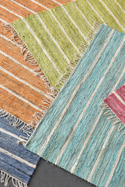 valmont recycled rug in lime color