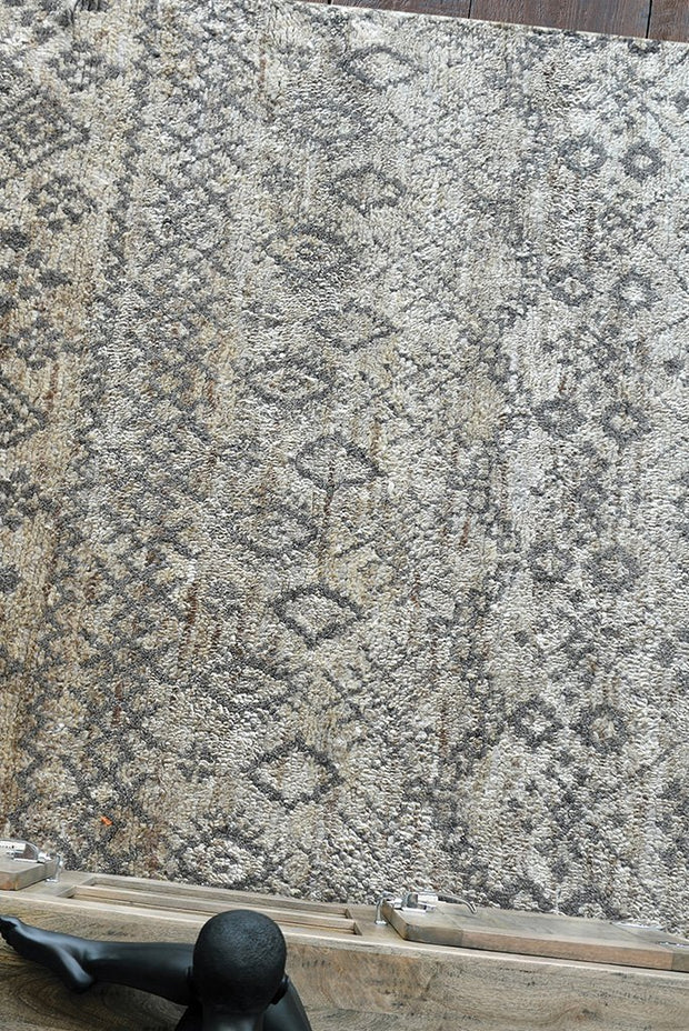 wardin hemp rug in grey and natural color