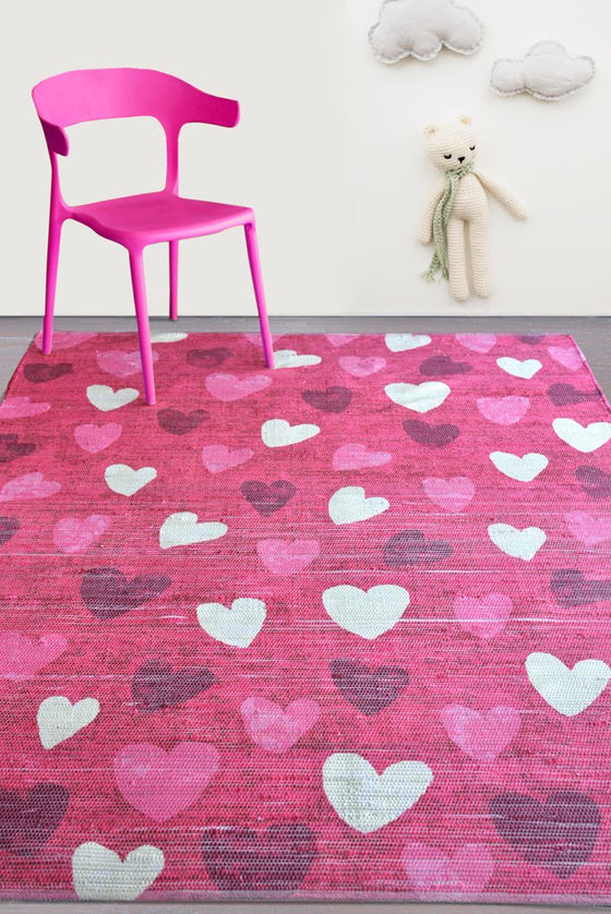 amelia viscose rug in fuschia color
