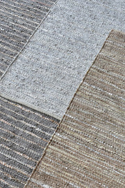ayana leather rug in grey color