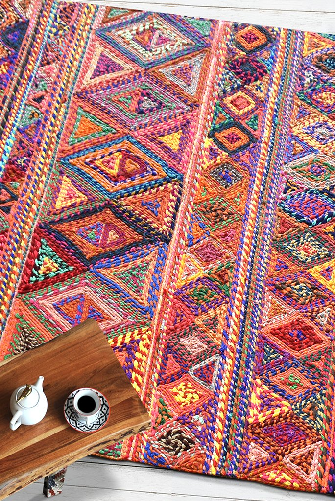 bagleys recycled rug in multi color