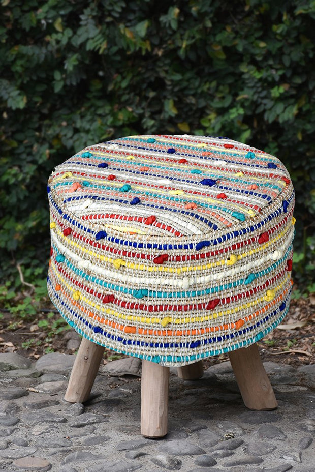 berries recycled stool in multi color