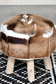 borrin hide stool in natural color