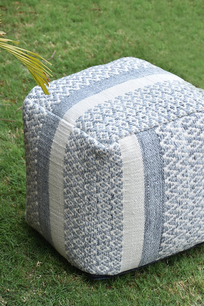colistan PET pouf in grey and ivory color