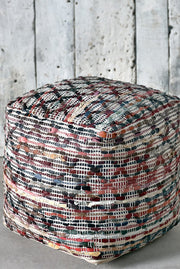 fagen recycled pouf in multi color