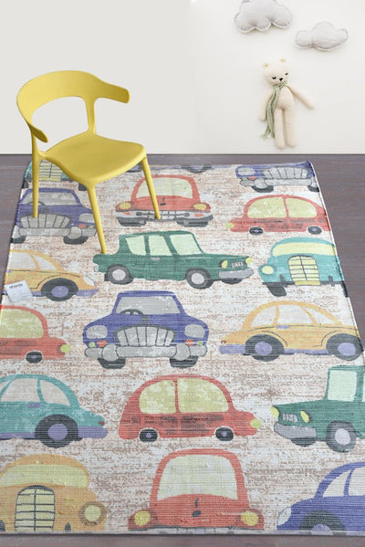 hotwheel viscose rug in multi color