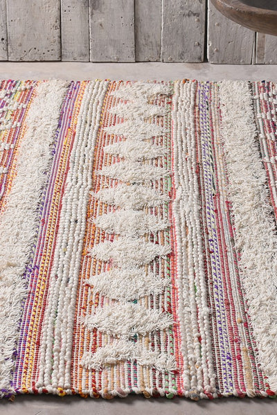 hyrax recycled rug in multi and ivory color
