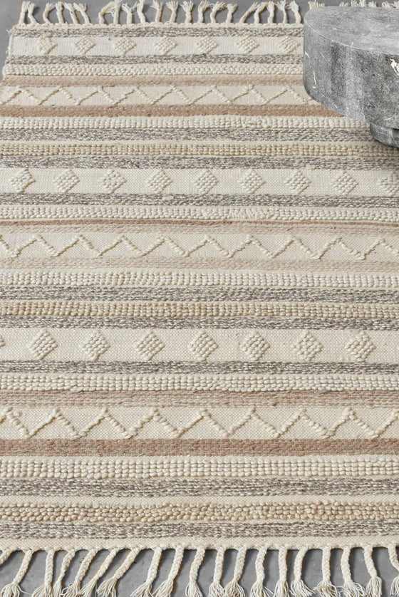 kevron wool rug in natural color