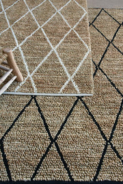 larson hemp rug  in charcoal and ivory color