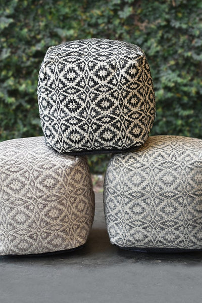 maderia PET pouf in taupe color