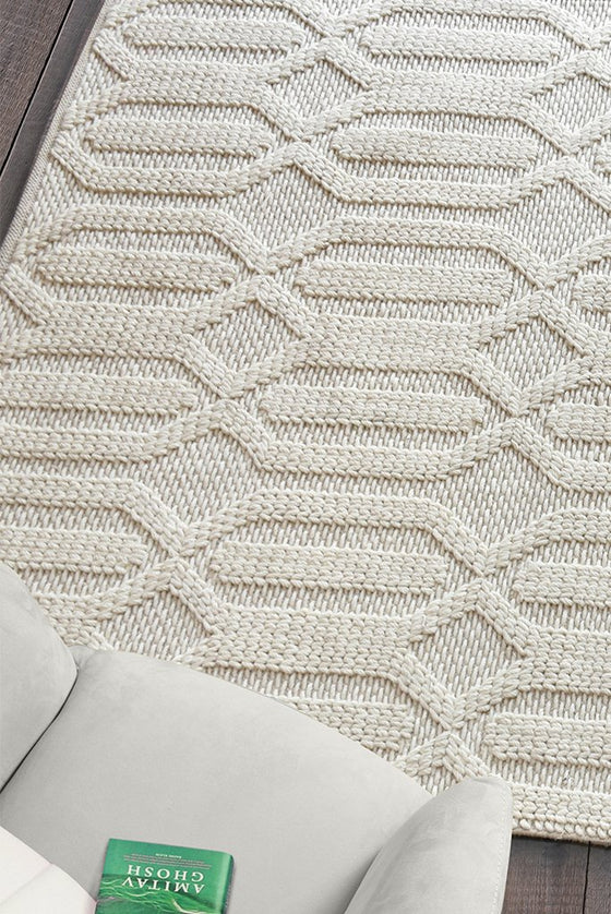 murray wool rug in ivory color