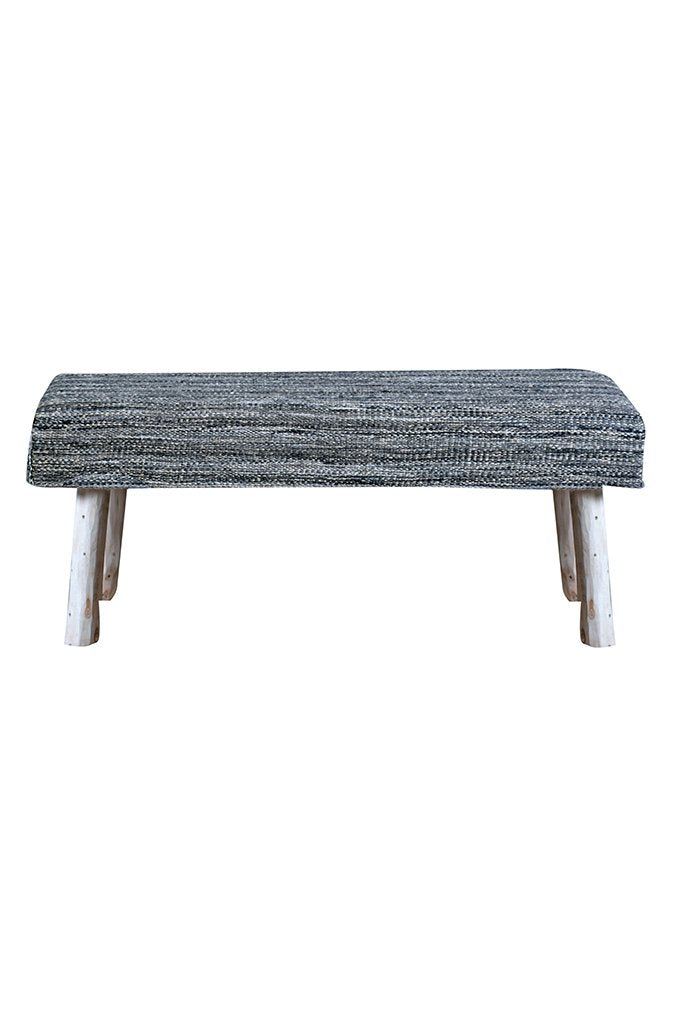 muse wool bench in grey color