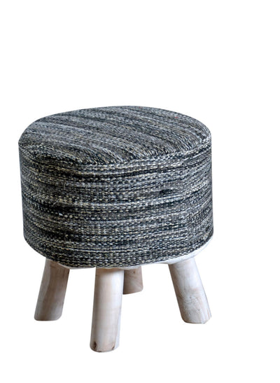 muse wool round stool in grey color