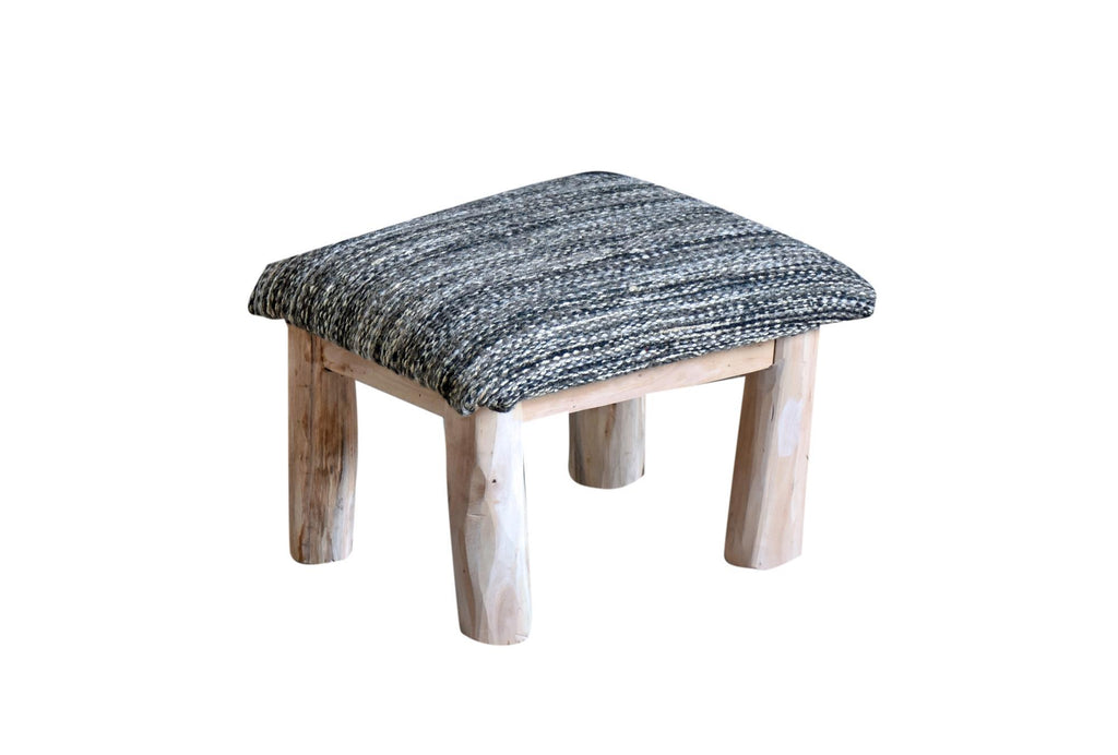 muse wool foot  stool in grey color