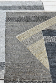 olwen leather rug in stone color