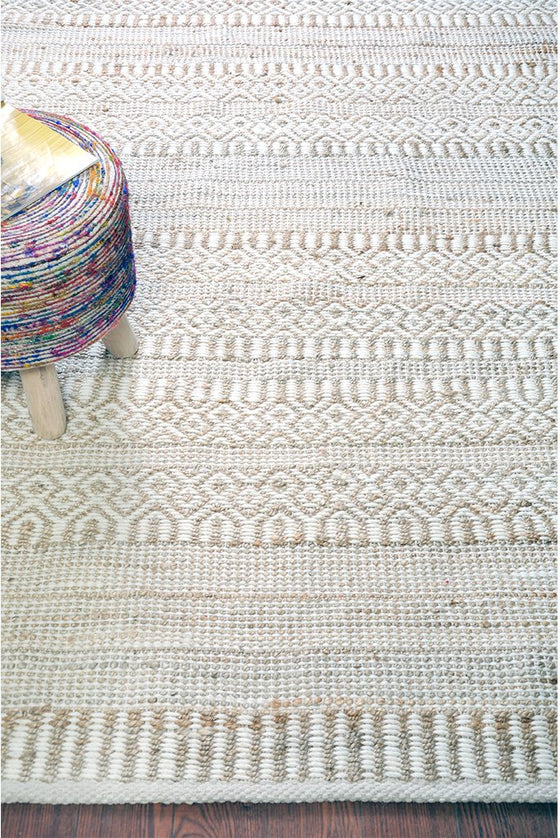 sarah hemp rug in ivory and natural color