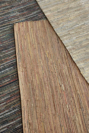 spica leather rug in brown and multi color