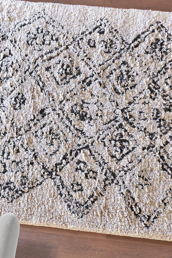 torrey wool rug in charcoal and ivory color